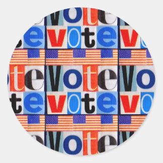 Vote Sticker Round Matte
