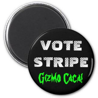 VOTE STRIPE 6 CM ROUND MAGNET