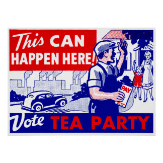 Vote Tea Party Poster