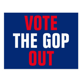 Vote the GOP Out 2018 Election Postcard