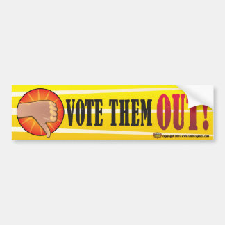 Vote the REST of  Them Out  2012 Bumper Sticker