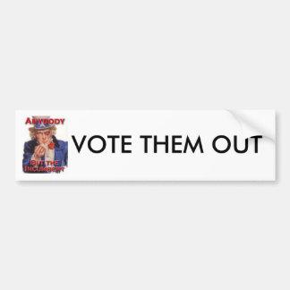 VOTE THEM OUT BUMPER STICKER