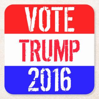 Vote Trump 2016 Square Paper Coaster