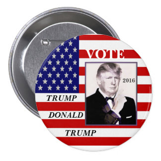 Vote Trump, Donald Trump 7.5 Cm Round Badge