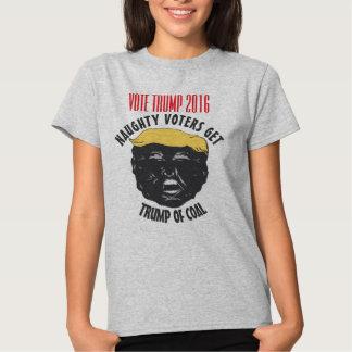 VOTE TRUMP | Naughty Voters Get Trump Of Coal GRAY T Shirt