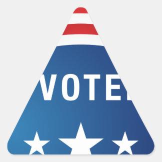 Vote USA Political Election Button Icon Triangle Sticker