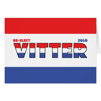 Vote Vitter 2010 Elections Red White and Blue Card