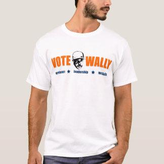 Vote Wally - Orange Text T-Shirt