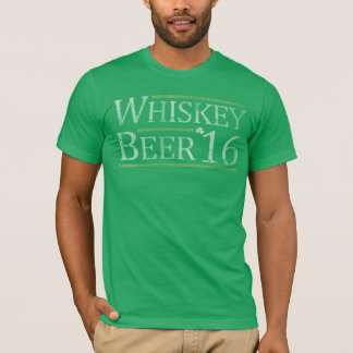 Vote Whiskey Beer 2016 Election St Patrick' Day T-Shirt