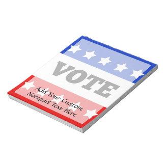 Vote, White Stars Notepad