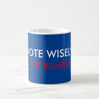 Vote Wisely Not Blindly Basic White Mug