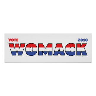 Vote Womack 2010 Elections Red White and Blue Print