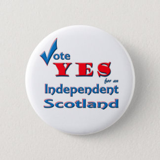 Vote YES for an Independent Scotland pin badge
