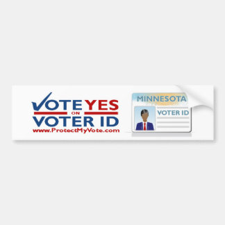 Vote Yes on Vote ID Bumper Sticker