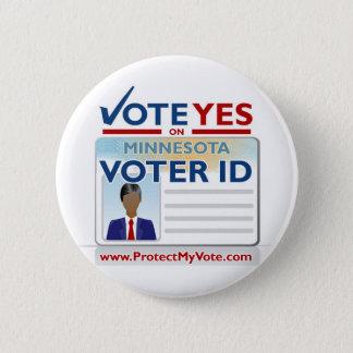 Vote Yes on Voter ID 6 Cm Round Badge