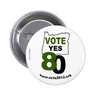 Vote Yes Oregon Measure 80 6 Cm Round Badge