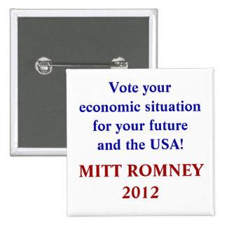 Vote your economic situation square Button