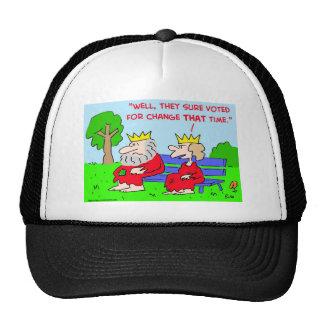 voted for change king queen trucker hat