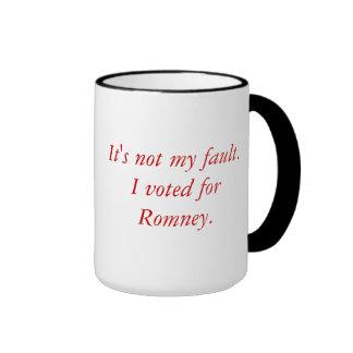 Voted for Romney Ringer Coffee Mug