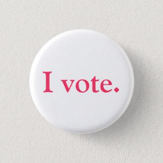 Voter ID, grlsvote style 3 Cm Round Badge