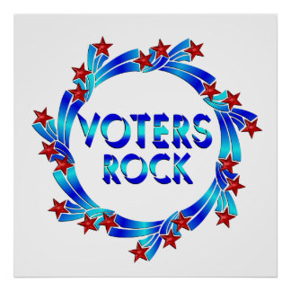 VOTERS ROCK POSTER