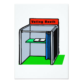 Voting Booth 13 Cm X 18 Cm Invitation Card