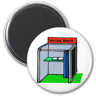 Voting Booth 6 Cm Round Magnet