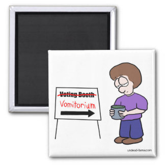 Voting Booth Square Magnet