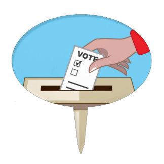 Voting Box Cake Pick