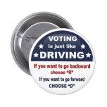 Voting - Driving 6 Cm Round Badge