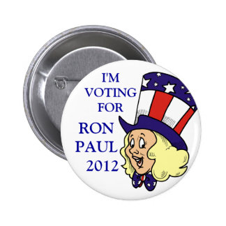 VOTING FOR RON PAUL POLITICAL BUTTON