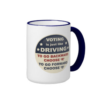 Voting is Just Like Driving Coffee Mugs