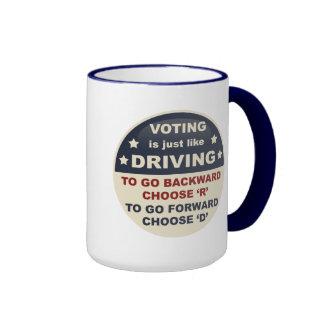 Voting is Just Like Driving Coffee Mugs