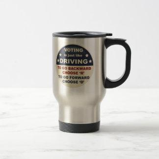 Voting is Just Like Driving Coffee Mug