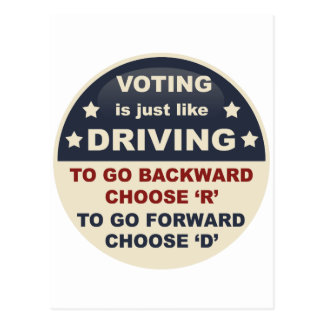 Voting is Just Like Driving Postcard