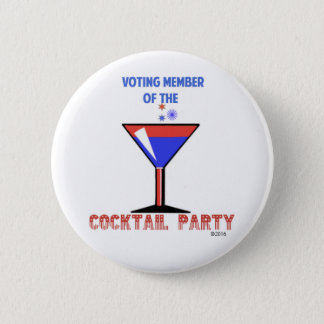 VOTING MEMBER OF THE COCKTAIL PARTY 6 CM ROUND BADGE
