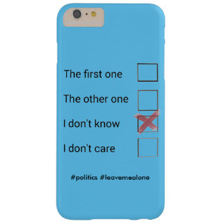 Voting phonecase barely there iPhone 6 plus case