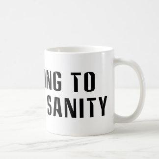 Voting To  Restore Sanity Bumper Sticker Sized Basic White Mug