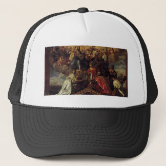 Votive Portrait of Doge Sebastiano Venier by Paolo Trucker Hat