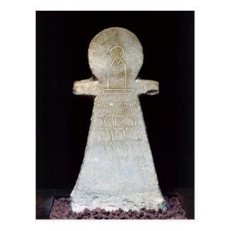 Votive stele, possibly depicting Tanit Postcard