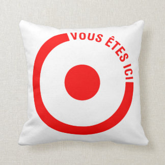 VOUS ETES ICI - Pillow Throw Cushions