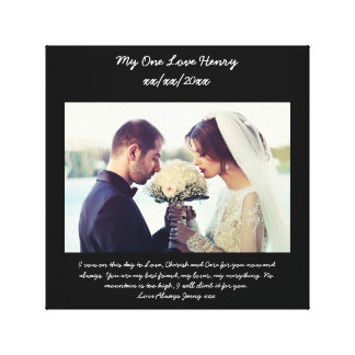 Vow renewal gift for husband canvas print