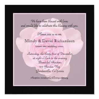 Vow Renewal Light Pink Rose 13 Cm X 13 Cm Square Invitation Card