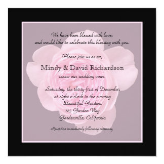 Vow Renewal Light Pink Rose Card