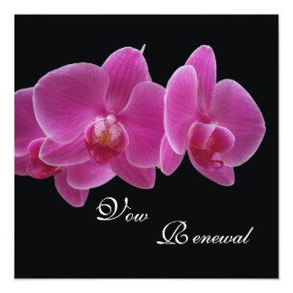 Vow Renewal Purple Orchids 13 Cm X 13 Cm Square Invitation Card