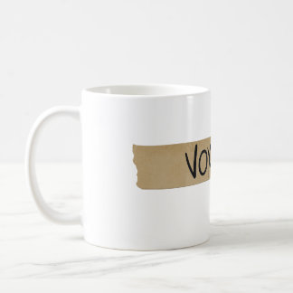 """Vox"" Musician's Sound Board Tape Basic White Mug"