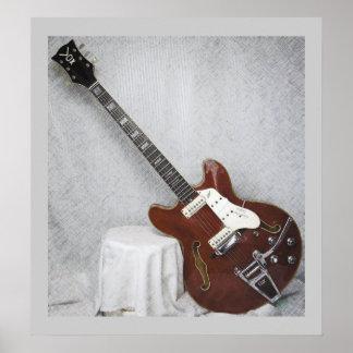 Vox Super Lynx Deluxe GuitarPoster Poster