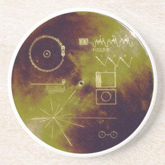 Voyager 1 and 2 Golden Record Sounds of Earth Coasters