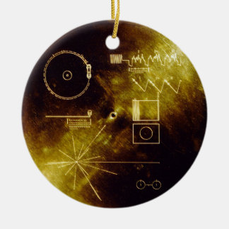 Voyager Message Round Ceramic Decoration