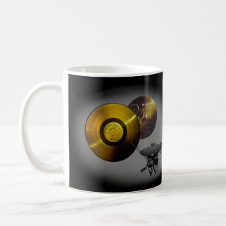 Voyager Spacecraft and Golden Record at 40 Coffee Mug